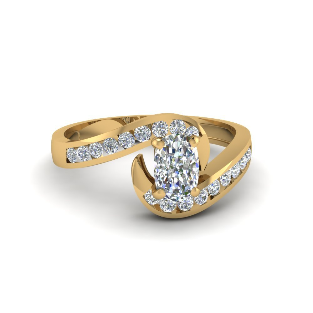 Beautiful Swirl Channel Set Diamond Ring