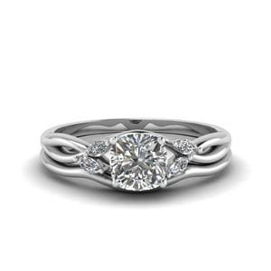 Cushion Diamond Wedding Set