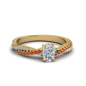 Braided Shank Diamond Ring