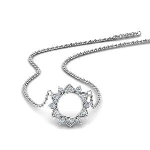 Daisy Diamond Circle Pendant