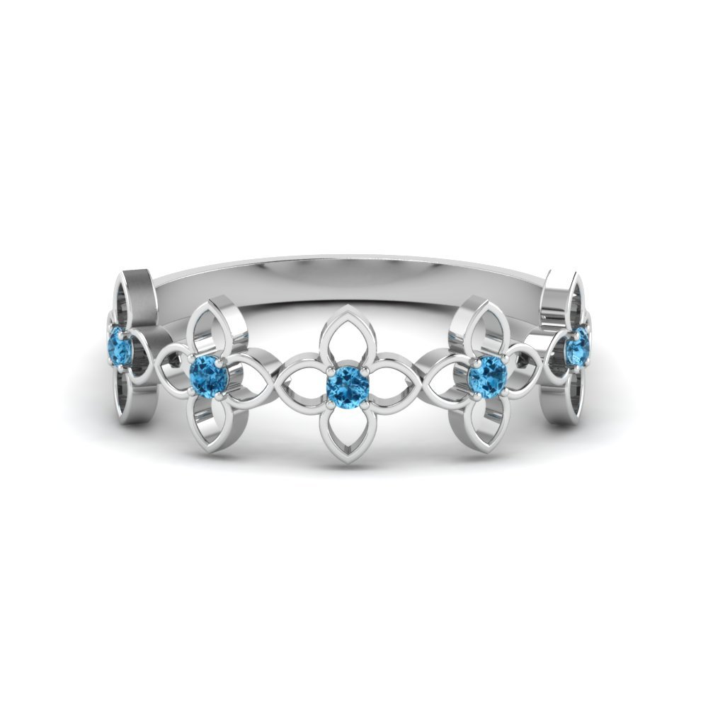 Blue Topaz Delicate Wedding Ring