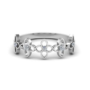 Daisy Flower Wedding Band