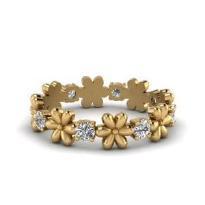 Daisy Flower Eternity Band