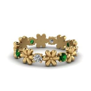 Daisy Emerald Eternity Band