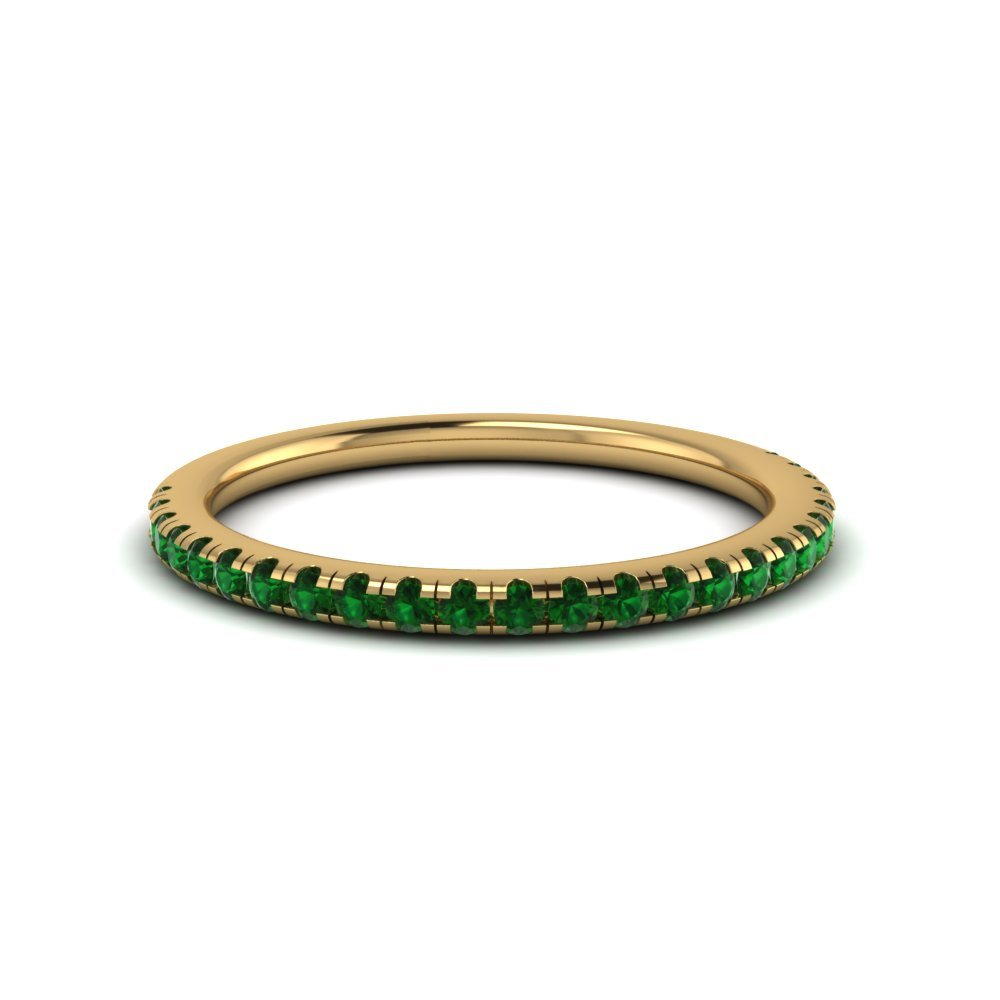 Gold Emerald Wedding Rings