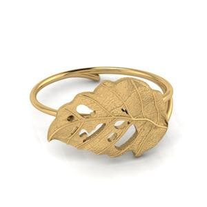 Delicate Leaf Pattern Ring