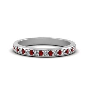 Petite Sterling Silver Ruby Band
