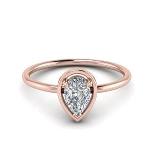 Single Diamond Ring 18K Rose Gold
