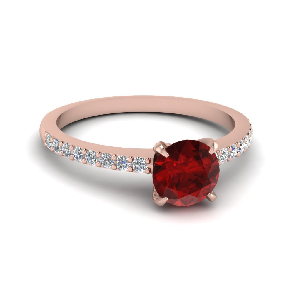 Delicate Ruby Stone Engagement Ring