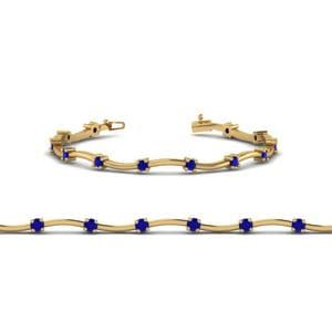 Delicate Curved Sapphire Bracelet