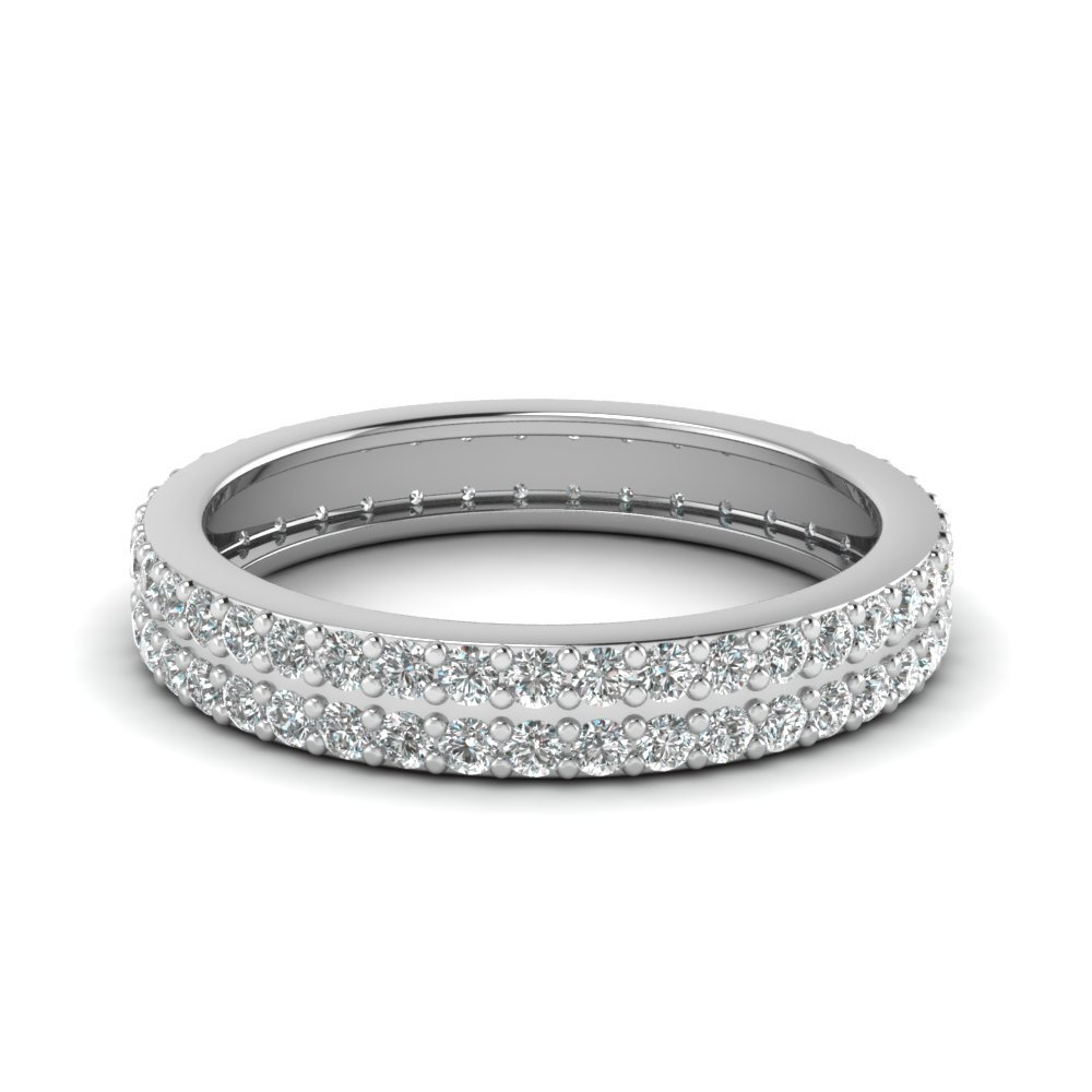0.75 Ctw. Diamond 2 Row Eternity Band