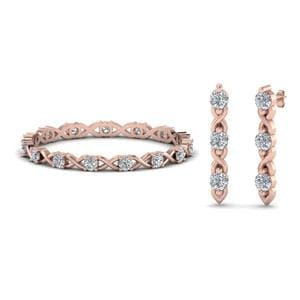 Diamond Eternity Band With Earring