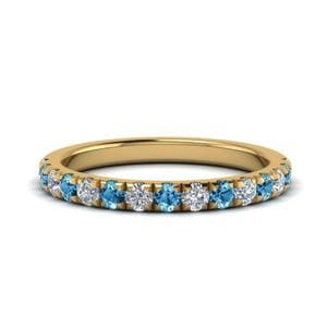 Blue Topaz Half Eternity Band