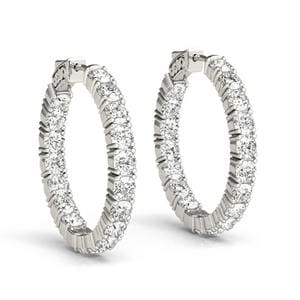 5 Ctw. Diamond Inside Out Hoop Earring