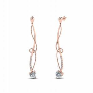 Diamond Linear Drop Earring