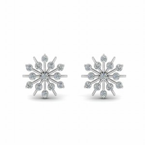 Snowflake Stud Earring For Womens