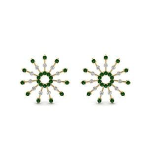 Emerald Stud Earring For Womens