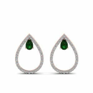 Diamond Teardrop Stud Earring