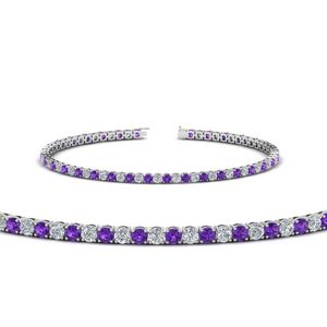 Platinum Purple Topaz Tennis Bracelet