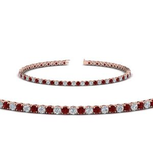Ruby Tennis Diamond Bracelet