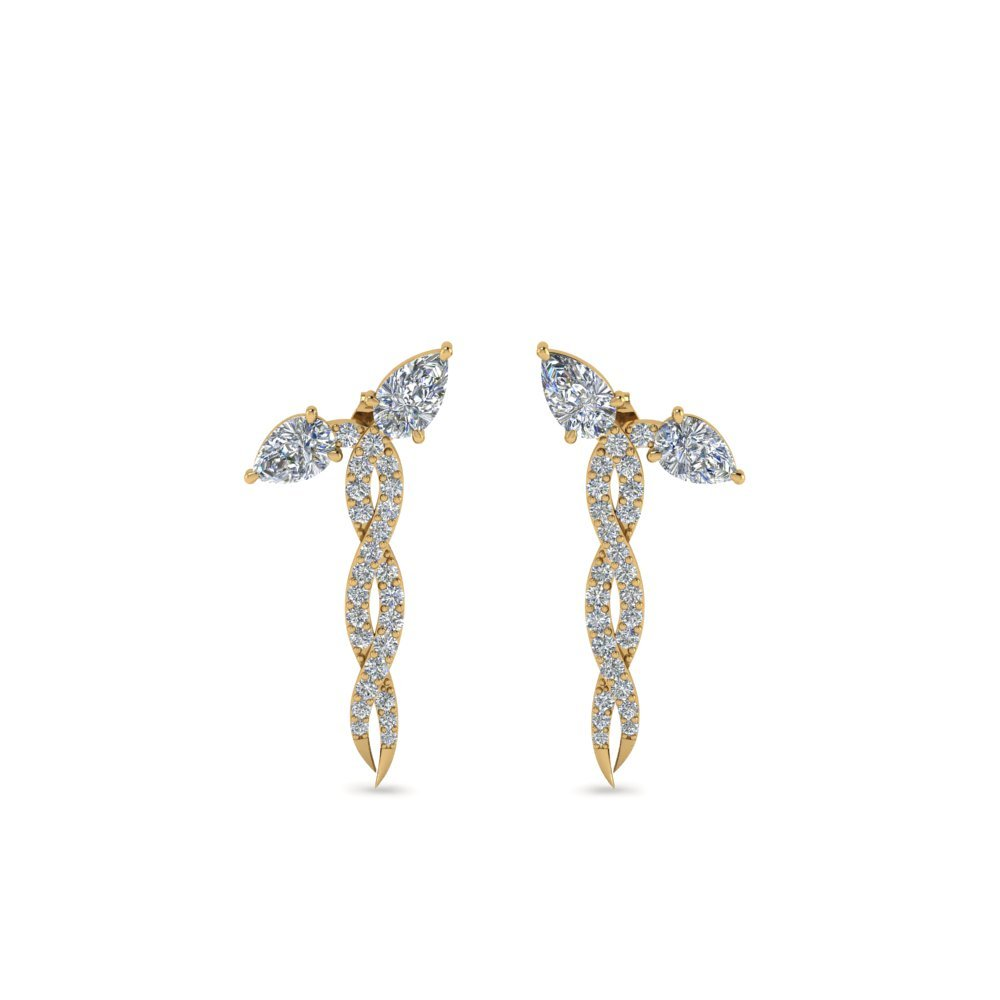 Diamond Twisted Snake Earring