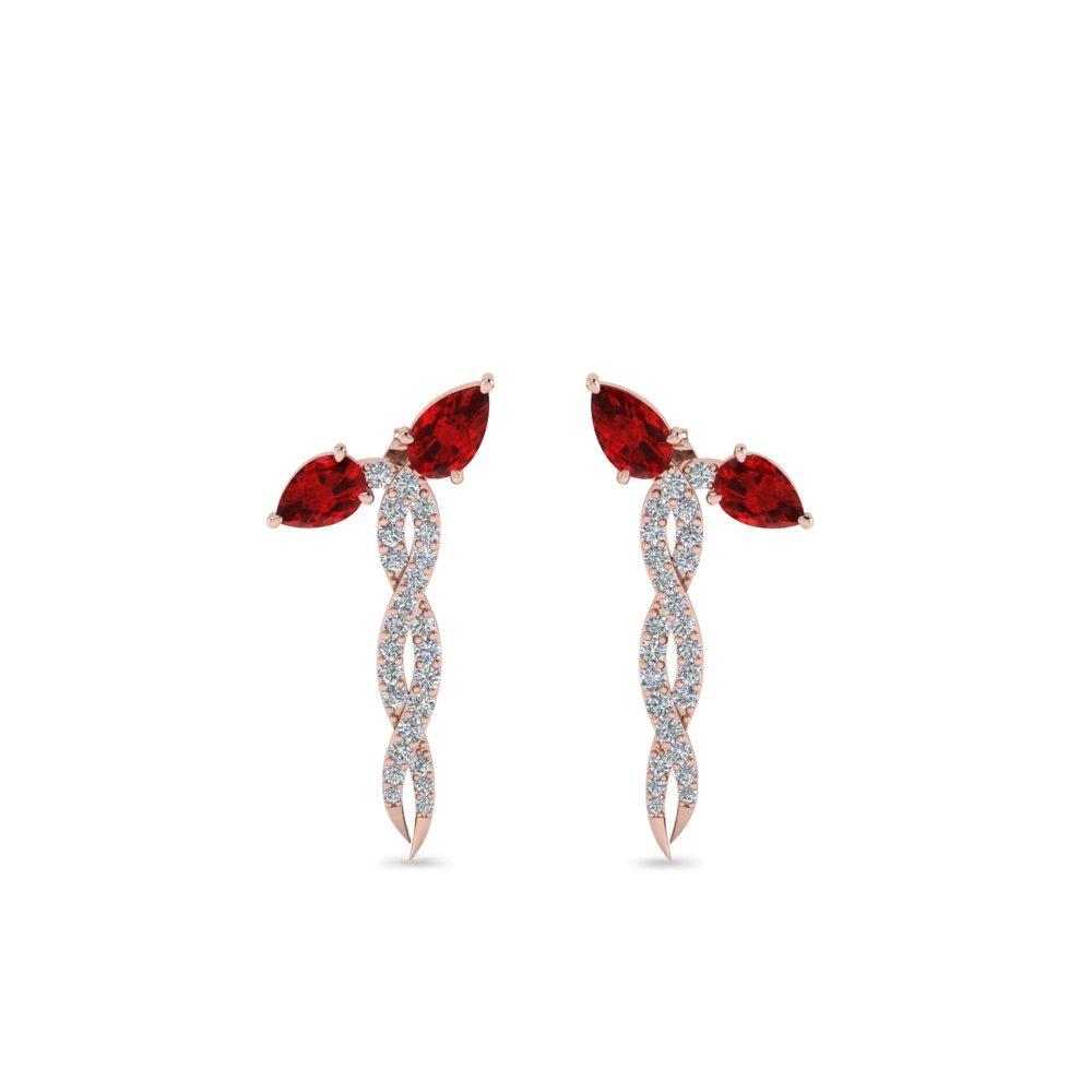 Diamond Twisted Snake Earrings