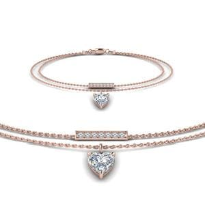 Double Chain Drop Diamond Bracelet
