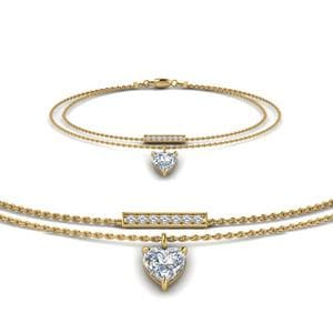 Double Chain Diamond Bracelet