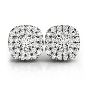 Double Halo 2 Tone Stud Earring
