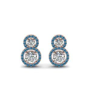 Blue Topaz Dual Drop Earring