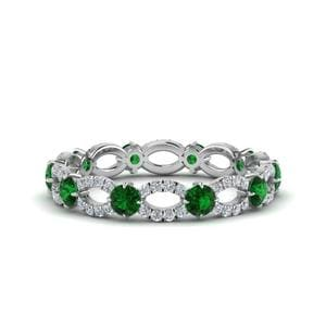 Emerald And Diamond mothers Eternity Ring
