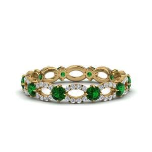 Unique Emerald Eternity Ring