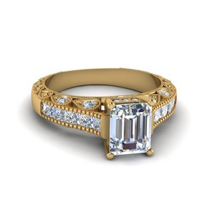 Antique Channel Set Diamond Ring