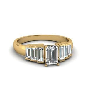 Baguette Diamond 7 Stone Ring
