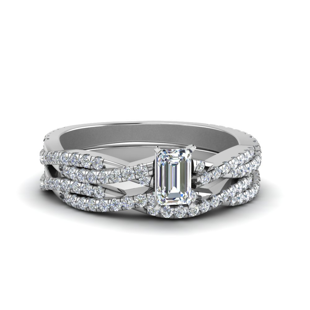 Braided Diamond Bridal Set