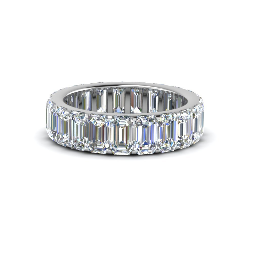 4 Ct. Emerald Cut Diamond<br> Eternity Band