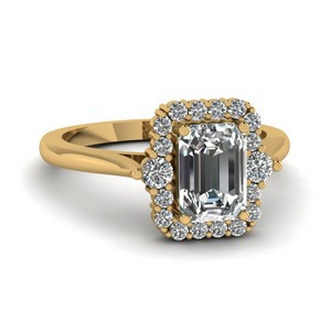 0.75 Ct. Emerald Cut Diamond Engagement Rings