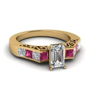 Vintage Style Pink Sapphire Ring