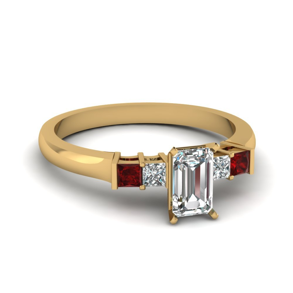 Ruby Yellow Gold Engagement Ring