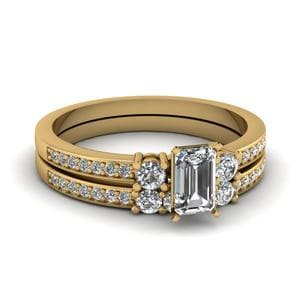 3 Stone Diamond Engagement Ring Set