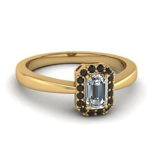 Tapered Black Diamond Ring
