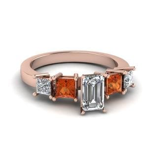 Emerald Cut 5 Stone Ring