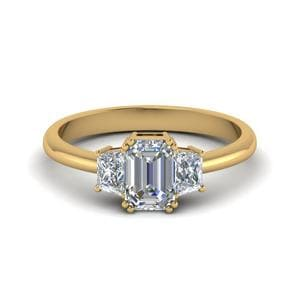 Trapezoid Engagement Ring