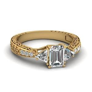 Antique Trillion Diamond Ring