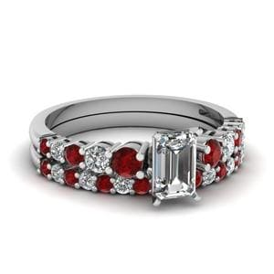 Ruby Ring And Matching Band