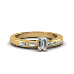 Emerald Cut Baguette Diamond Ring