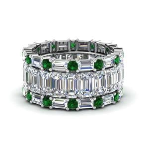 Emerald Stackable Eternity Band