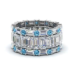 Stackable Blue Topaz Wedding Band