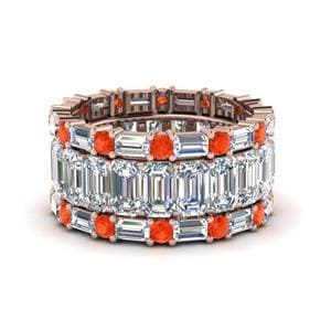 Orange Topaz Multi Stack Band