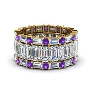 Purple Topaz Eternity Stack Band
